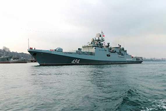 Фрегат Черноморского флота «Адмирал Григорович» вернулся изСредиземного моря
