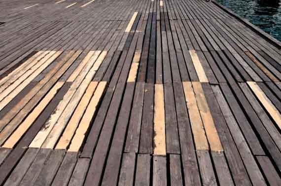 Доски для ремонта использовали разных пород, длины и толщины
