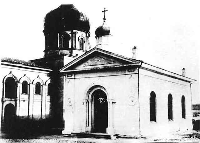 Храм Архистратига Михаила на улице Екатерининской (наст. ул. Ленина), расположенный вблизи Николаевского собора