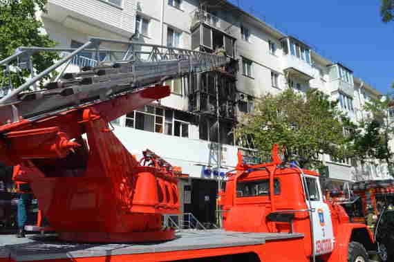 От пожара в многоквартирном доме пострадало пять квартир